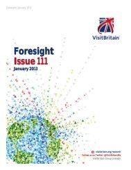 Foresight Issue 111 - VisitBritain