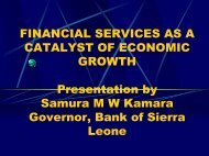 Financial Services as a Catalyst of Economic Growth Presentation ...