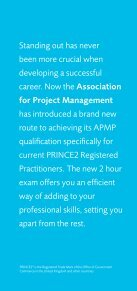 shortened route to APMP - Association for Project Management - Page 2