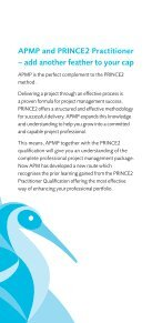 shortened route to APMP - Association for Project Management - Page 3
