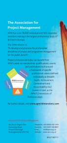 shortened route to APMP - Association for Project Management - Page 6