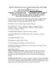 queen's college of guyana alumni association (new york), inc