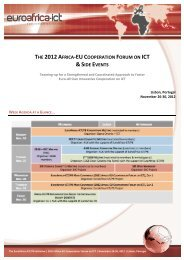 & SIDE EVENTS - EuroAfrica-ICT
