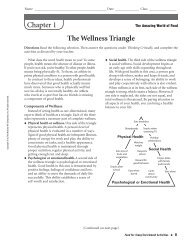 The Wellness Triangle Chapter 1