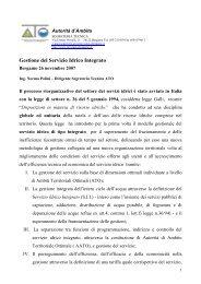 Gestione del Servizio Idrico Integrato - Ordine degli Ingegneri della ...