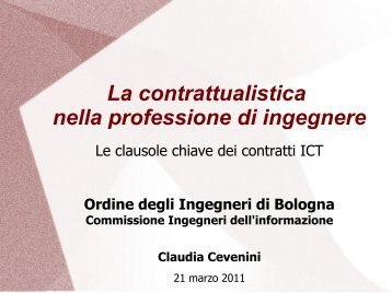 appunti - Ordine degli Ingegneri della Provincia di Bologna