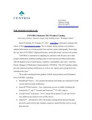 CENTRIA Releases 2013 Product Catalog