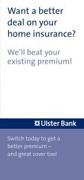 Want a better deal on your home insurance? - Ulster Bank