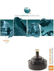 SERIES STAND-ALONE Hydraulic Brake - White Drive Products, Inc.