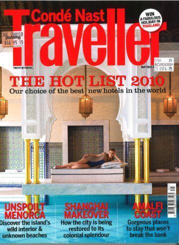Conde Nast Traveller - Alila Hotels and Resorts