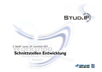 Schnittstellen Entwicklung - Stud.IP