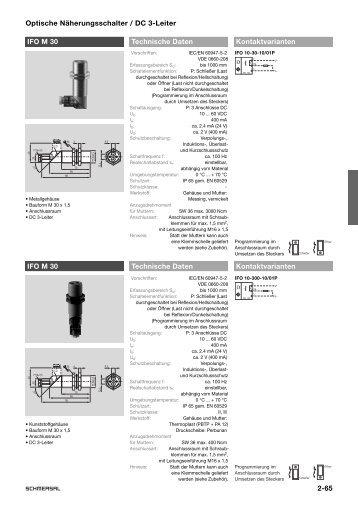 2-65 Optische Näherungsschalter / DC 3-Leiter IFO M ... - KASBASE