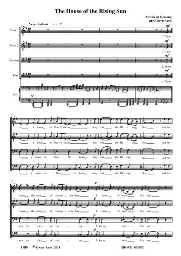 House of the rising sun.pdf - Grove Music Catalogue