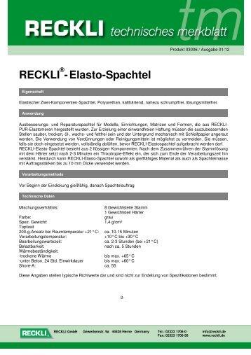 03006 Elasto-Spachtel - RECKLI GmbH: Home