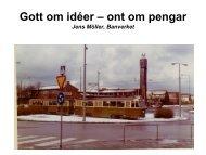 Lätt spårtrafik i Skåne - Trafikverket