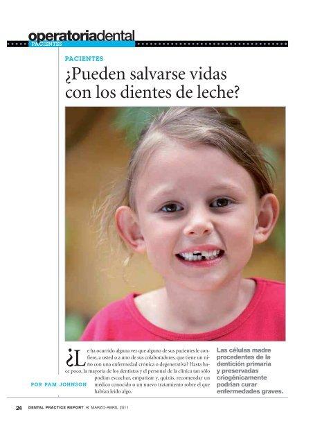 Â¿Pueden salvarse vidas con los dientes de leche?