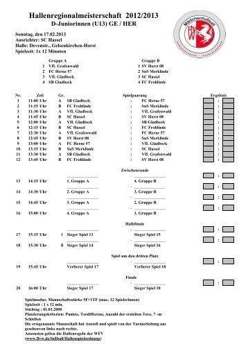 Hallenregionalmeisterschaft 2012/2013 - Kreis 12