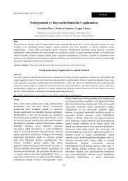 Nutrigenomik ve Hayvan Beslemedeki Uygulamaları