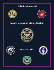 Joint Communications Systems - Integrated Defence Staff
