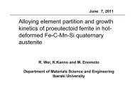 Alloying element partition and growth kinetics of ... - alemi.ca