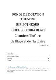 liste complete des ouvrages - Les Chantiers Théâtre de Blaye et de l ...