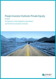 Preqin Investor Outlook: Private Equity - DVCA
