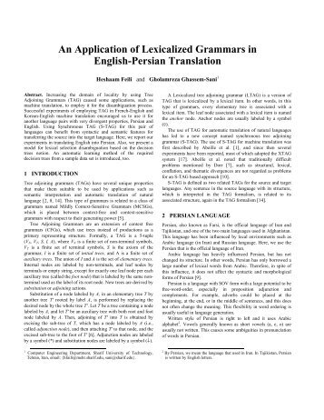 An Application of Lexicalized Grammars in English ... - CiteSeerX