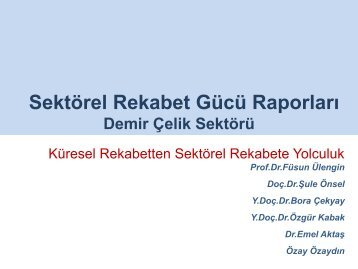 Şule Önsel - REF - Sabancı Üniversitesi