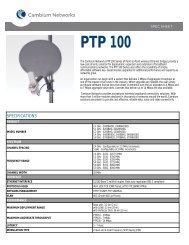 Specification Sheet - AGORA Telecom