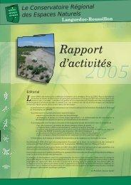 Rapport d'activité 2005. Septembre 2006 - Le site internet du CEN LR