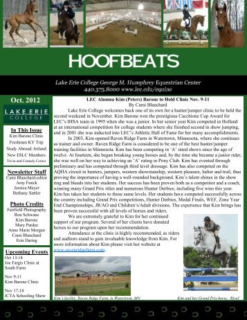 Oct. 2012 LEC Alumna Kim (Peters) Barone To - Lake Erie College