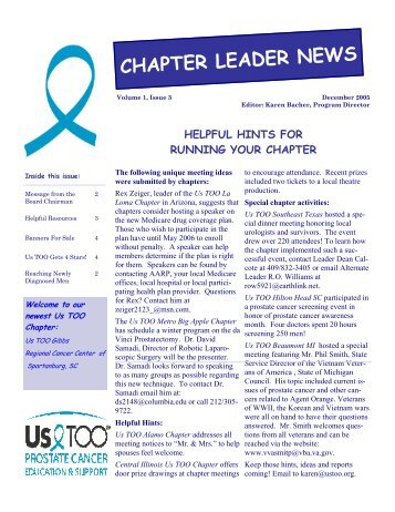 CHAPTER LEADER NEWS - US TOO International