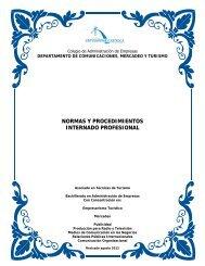 normas y procedimientos internado profesional - Pontificia ...