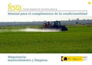 mantenimiento y limpieza - Fondo Español de Garantía Agraria