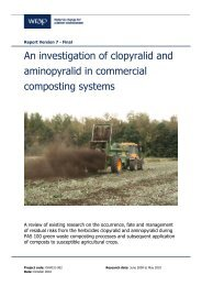 An investigation of clopyralid and aminopyralid in ... - Wrap