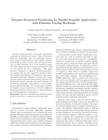 Dynamic Structured Partitioning for Parallel Scientific Applications ...