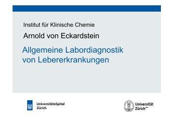 Allgemeine Labordiagnostik von Lebererkrankungen - Institut für ...