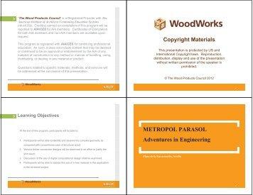 METROPOL PARASOL Adventures in Engineering - WoodWorks