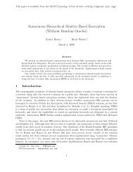 Anonymous Hierarchical Identity-Based Encryption ... - Unisinos