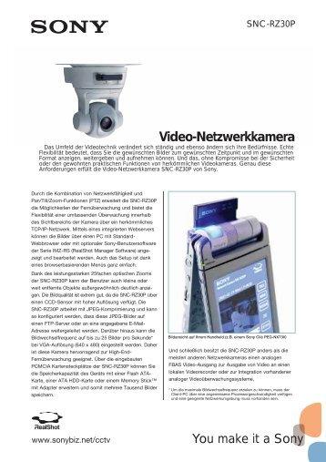 Video-Netzwerkkamera - Repro Schicker AG