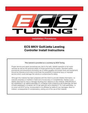 ECS MKIV Golf/Jetta Leveling Controller Install Instructions