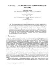 Extending a Logic-Based Retrieval Model With Algebraic ... - MRIM