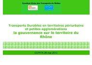 La gouvernance sur le territoire du Rhône - CoTITA