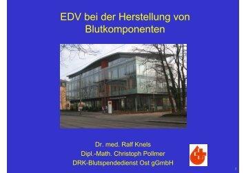 EDV bei der Herstellung von Blutkomponenten - DGTI