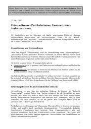 Universalismus - Partikularismus, Eurozentrismus ... - Birgit Sauer