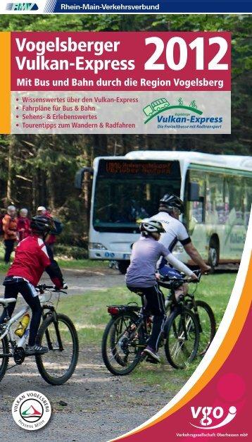 Vogelsberger Vulkan-Express 2012 Info-Broschüre
