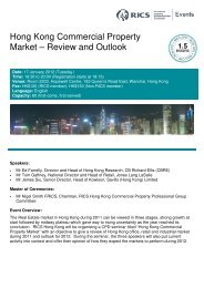 Hong Kong Commercial Property Market – Review and ... - RICS Asia