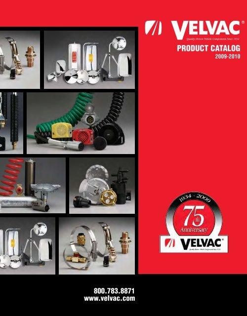 Velvac 035093 Bracket Mount Emergency Gladhand 37 Degree, Lightweight die cast Aluminum Bodies