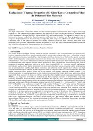Evaluation of Thermal Properties of E-Glass/ Epoxy ... - ijcer