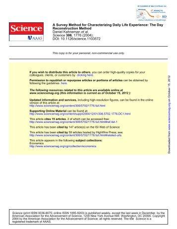 DOI: 10.1126/science.1103572 , 1776 (2004); 306 Science et al ...
